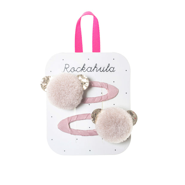 Rockahula Billie Bear Pom Pom Clips
