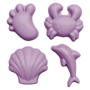 scrunch silicone sand moulds in light dusty purple