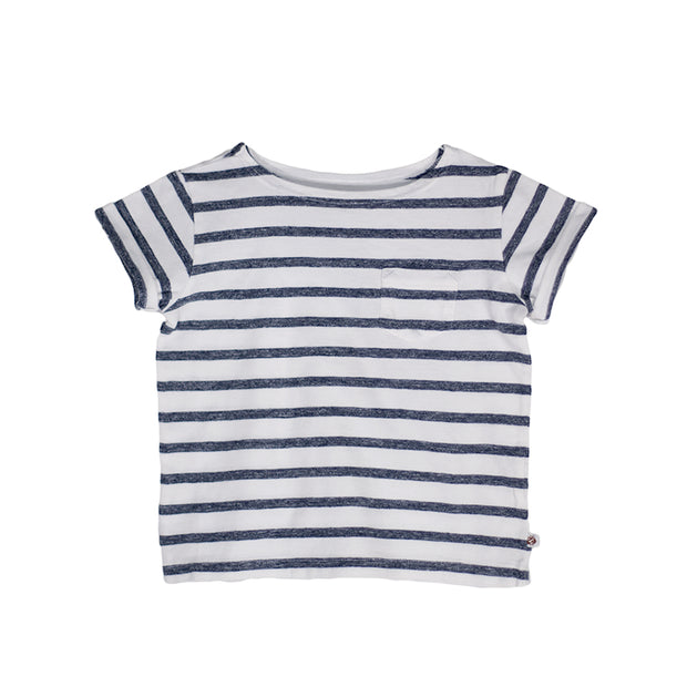 sunchild boys and girls faro stripy white t shirt