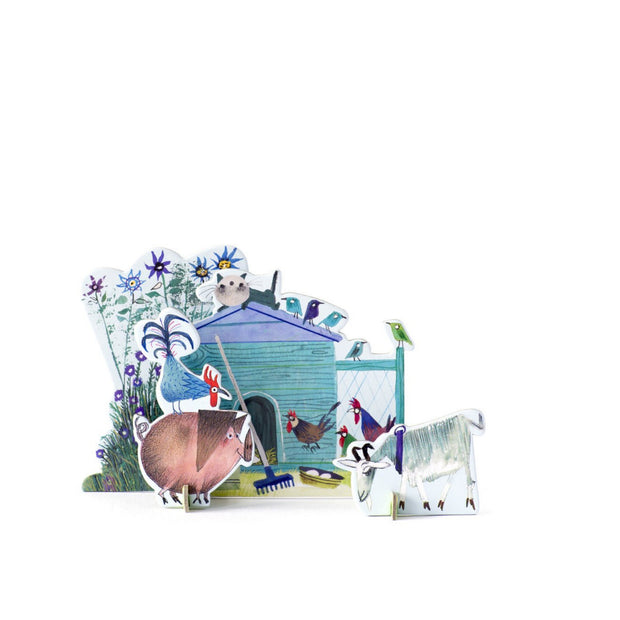 Studio Roof Pop Out Card Tiny Tale - Little Farm