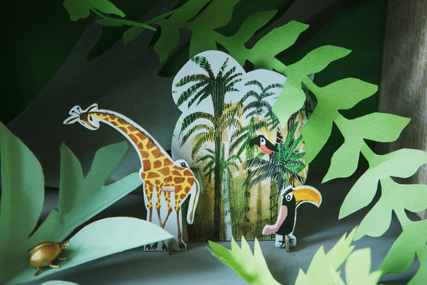 Estudio Techo Pop Out Card Minúsculo Cuento-Jungle Jirafa