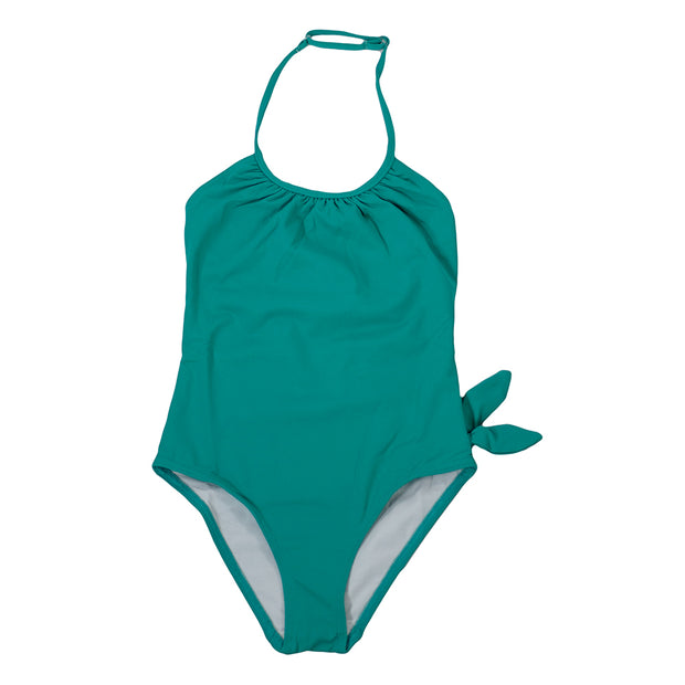 sunchild girls Victoria green swimsuit adjustable strap