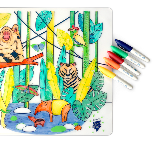 SuperPetit Tablemat Set - Wildlife Jungle South-East As