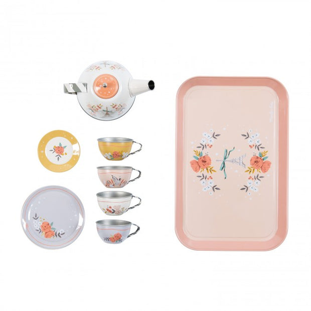 Moulin Roty metal floral printed Tea Set