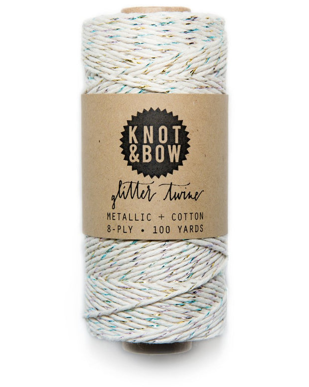 Knot & Bow Natural Glitter Twine