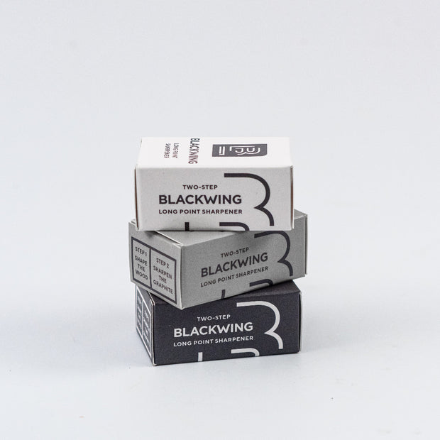 blackwing two step long point pencil sharpeners packaged