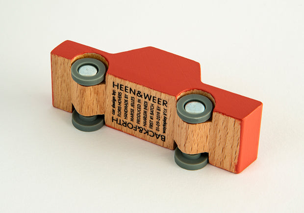 Waytoplay Back and forth wooden red toy car