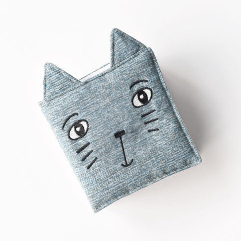 Wee Gallery Soft Cloth Book Friendly Face in the Garden - Cat