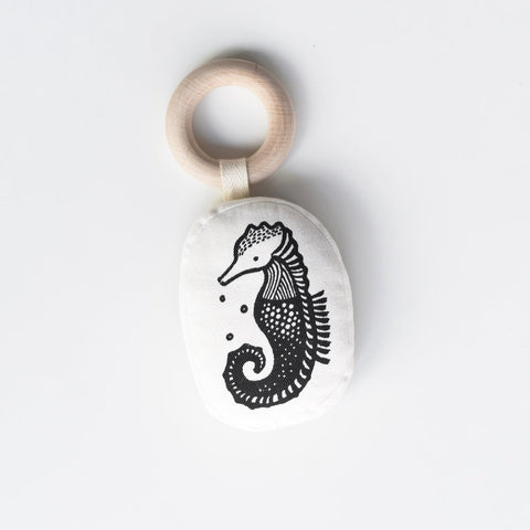 Wee Gallery Teething Ring - Seahorse