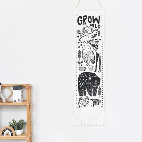 Wee Gallery Canvas Growth Chart - Nordic