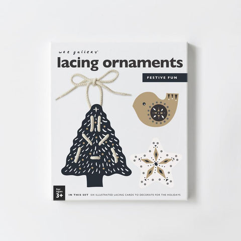 Wee Gallery Lacing Cards - Christmas Ornaments