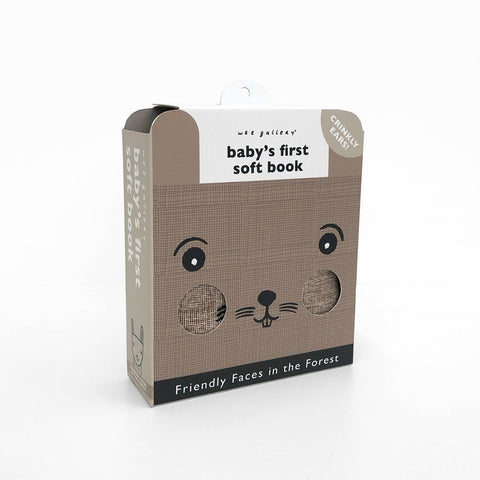 Wee Gallery Soft Cloth Book Friendly Face in the Forest - Bunny