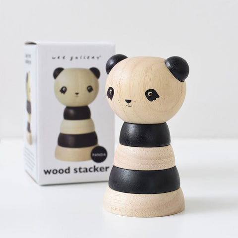 Wee Gallery Wooden Stacker - Panda