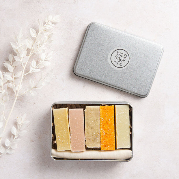 Wild Sage & Co Gift Box of 5 Small Soap Bars