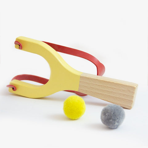 Me & Mine Wooden Slingshot yellow