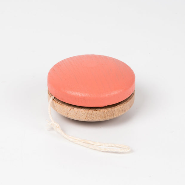 Me & Mine Wooden YoYo coral