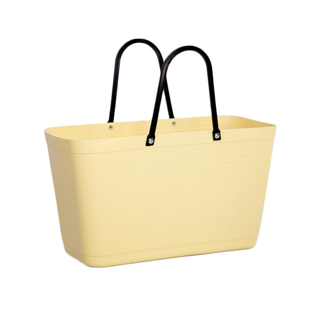 hinza large green plastic bag in yellow
