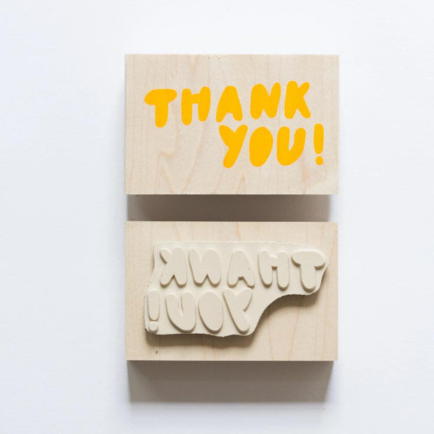 Yellow Owl Workshop Rubber Stamp - Thank You