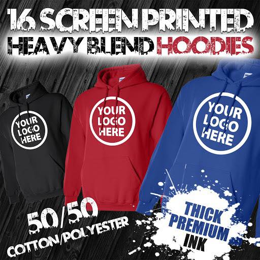 16 Custom Screen Printed Hoodies