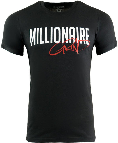 Millionaire Grind Tee - (Black / White / Red)