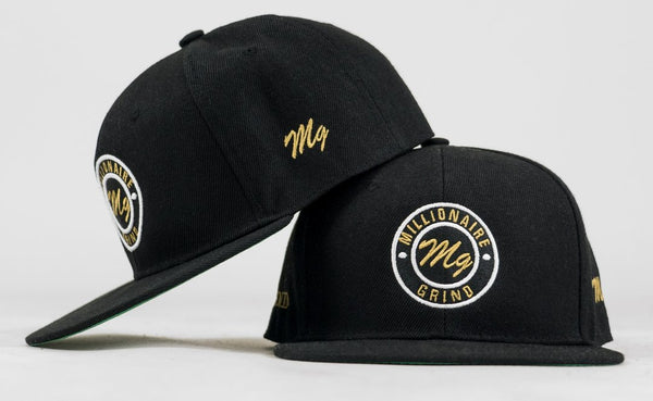 MG Patch Snapback - (Black/White/Gold)
