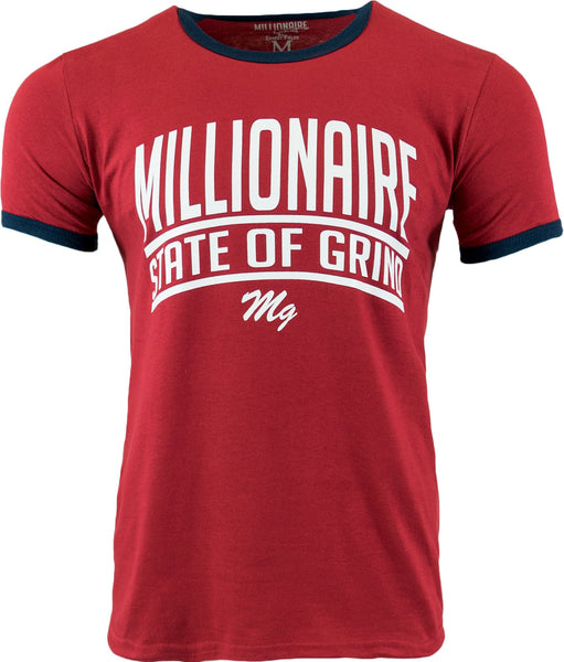 State Of Grind Ringer Tee - (Cardinal Red / White / Navy)
