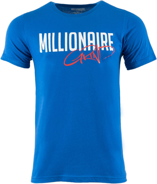Millionaire Grind Tee - (Royal Blue / White / Red)
