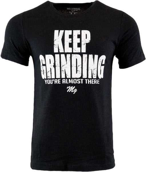 Keep Grinding Tee - (Black / White)