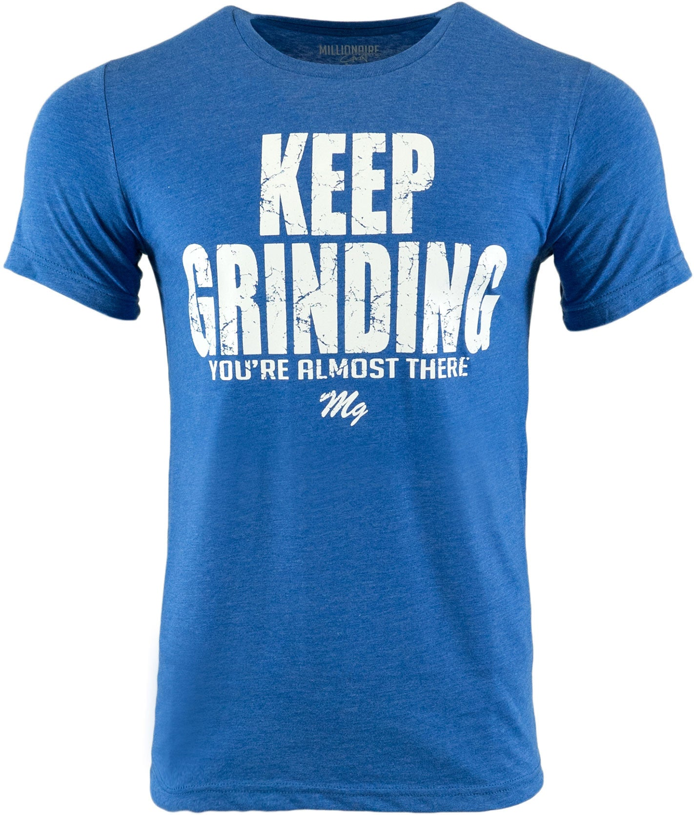 Keep Grinding Tee - (Royal / White)