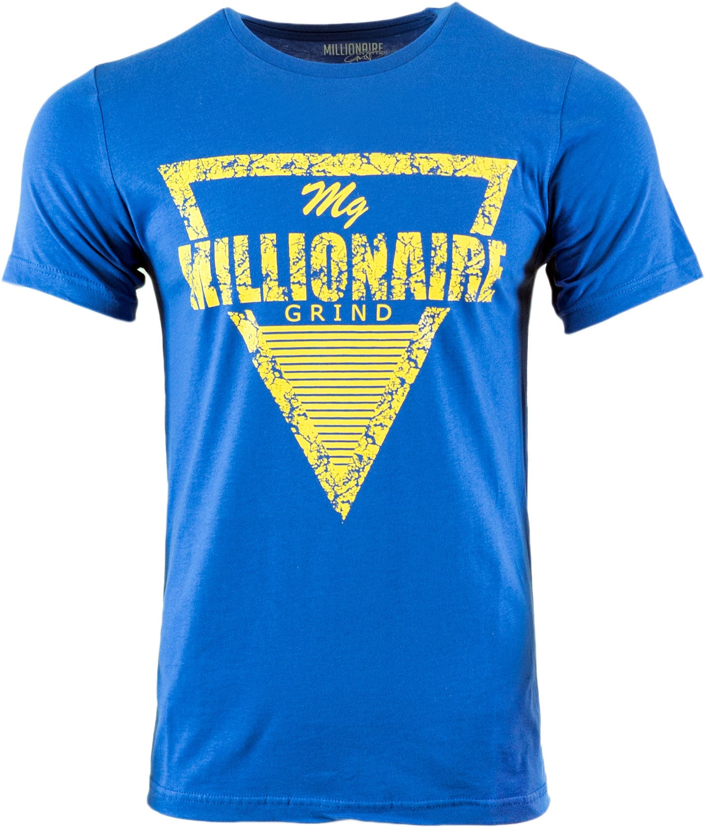 Pyramid Tee - (Royal / Golden Yellow)