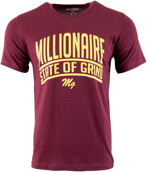 State Of Grind Tee - (Maroon / Golden Yellow)