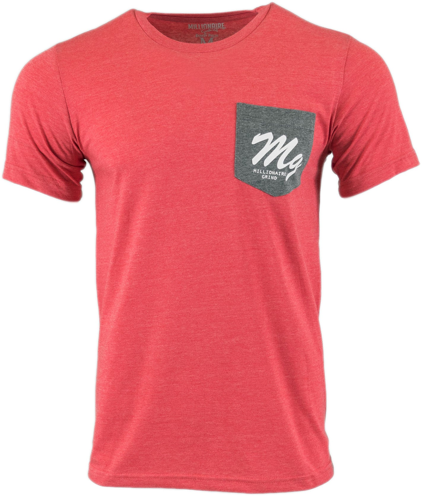 MG Logo Pocket Tee - (Heather Red / Grey / White)