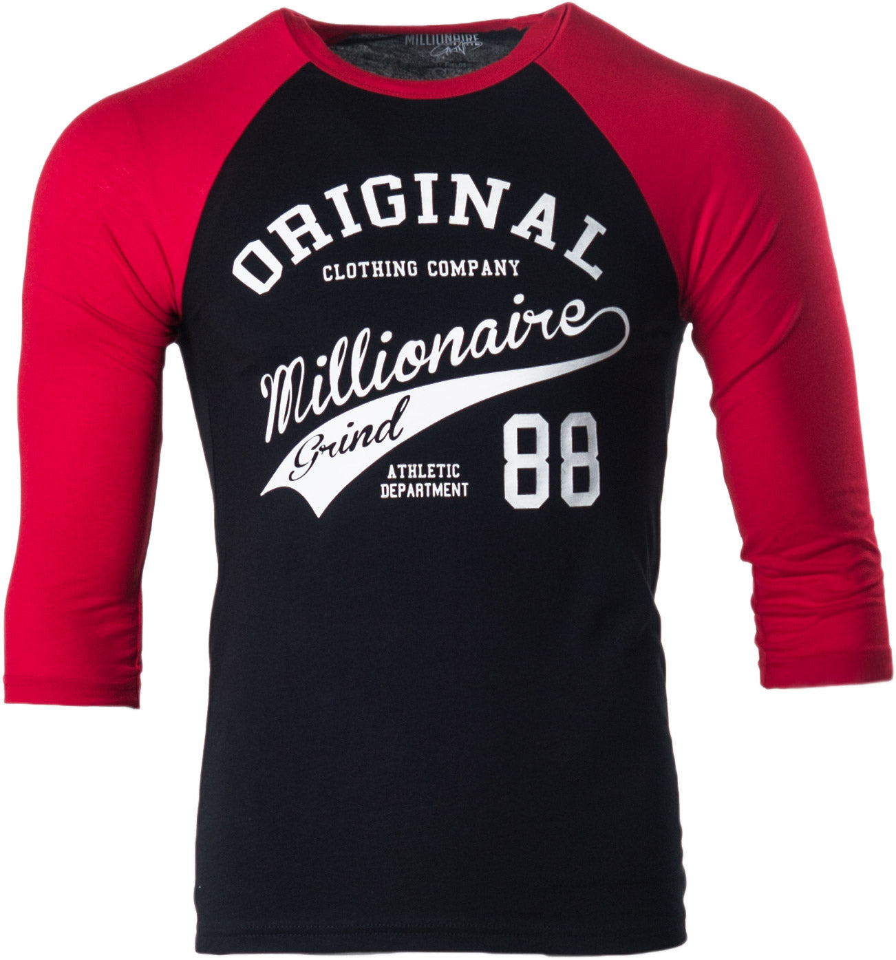 OMG Baseball Tee - (Black/Red/White)