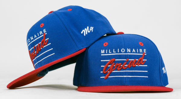 Note Snapback - (Royal/White/Red)