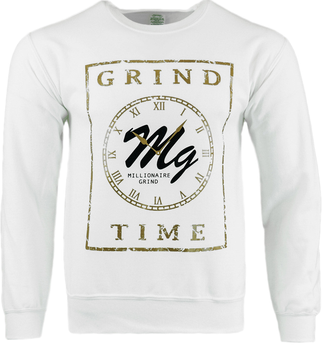 Grind Time Crew - (White/Black/Gold)