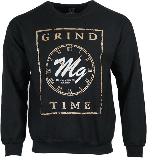 Grind Time Crew - (Black / White / Gold)