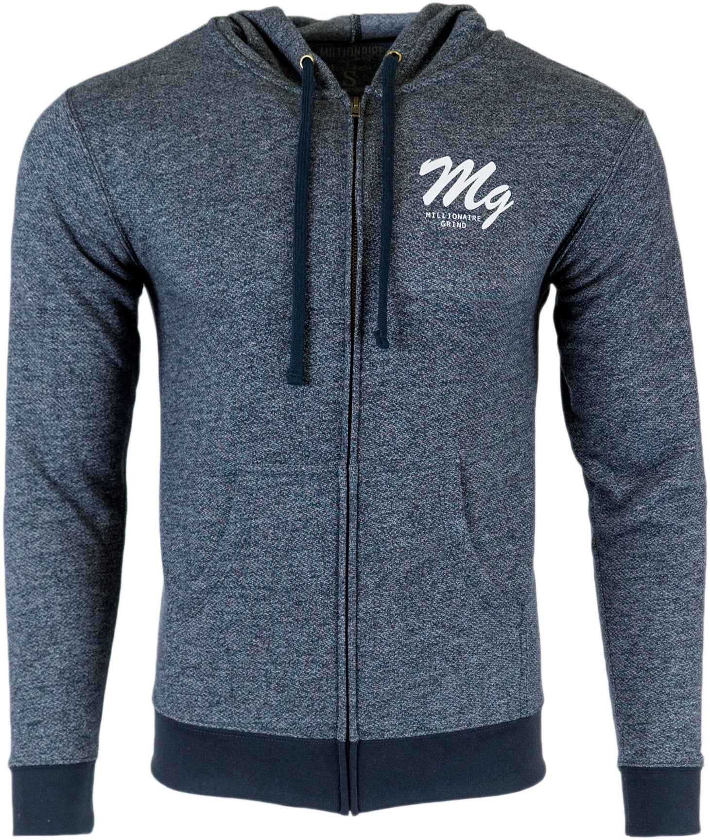 MG Denim Fleece Zip Hoody - Navy