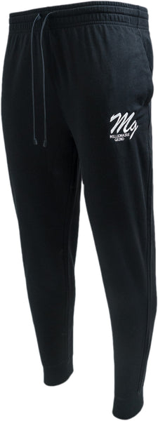 MG Light Terry Jogger Pants - (Black / White)