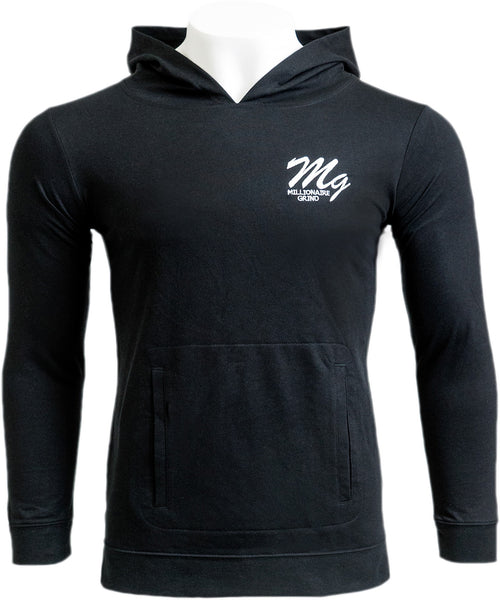 MG Light Terry Hoodie - (Black / White)