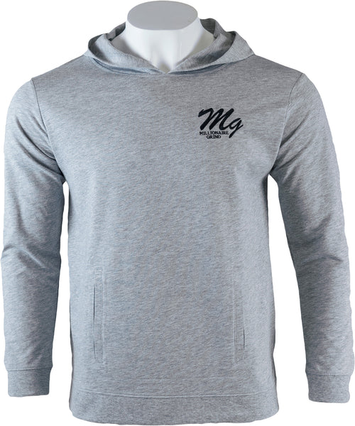 MG Light Terry Hoodie - (Grey / Black)