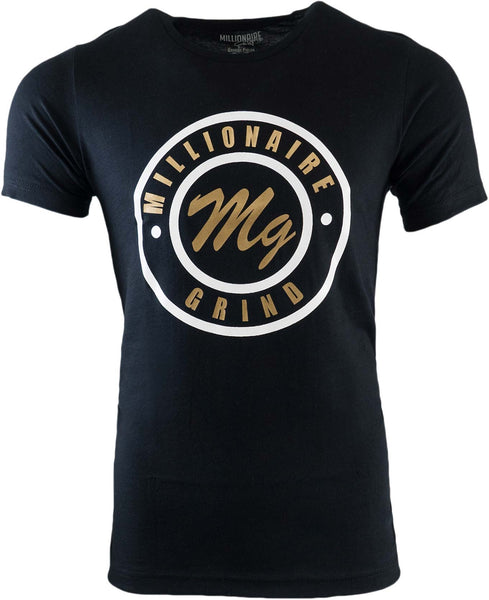 MG Circular Tee - (Black White Gold)