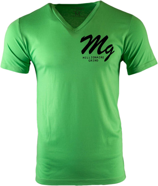 MG Logo V Neck - (Lime Green / Black)