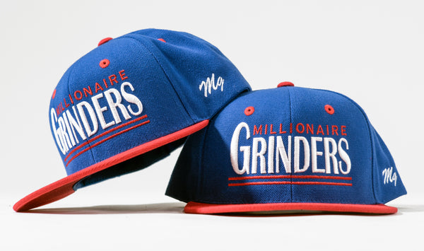 Millionaire Grinders Snapback - (Royal / White / Red)