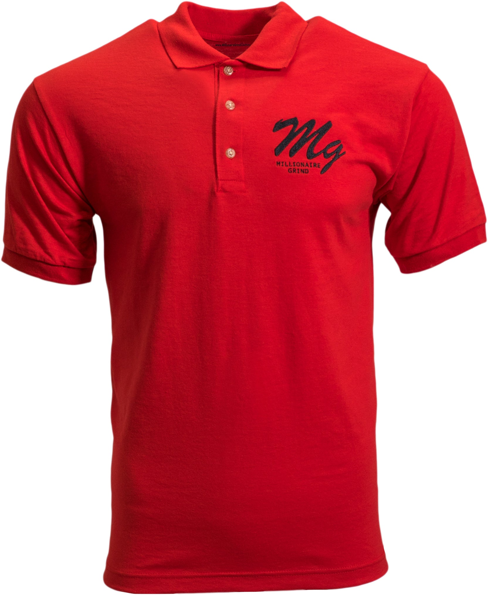 Millionaire Grind - Polo (Red / Black)