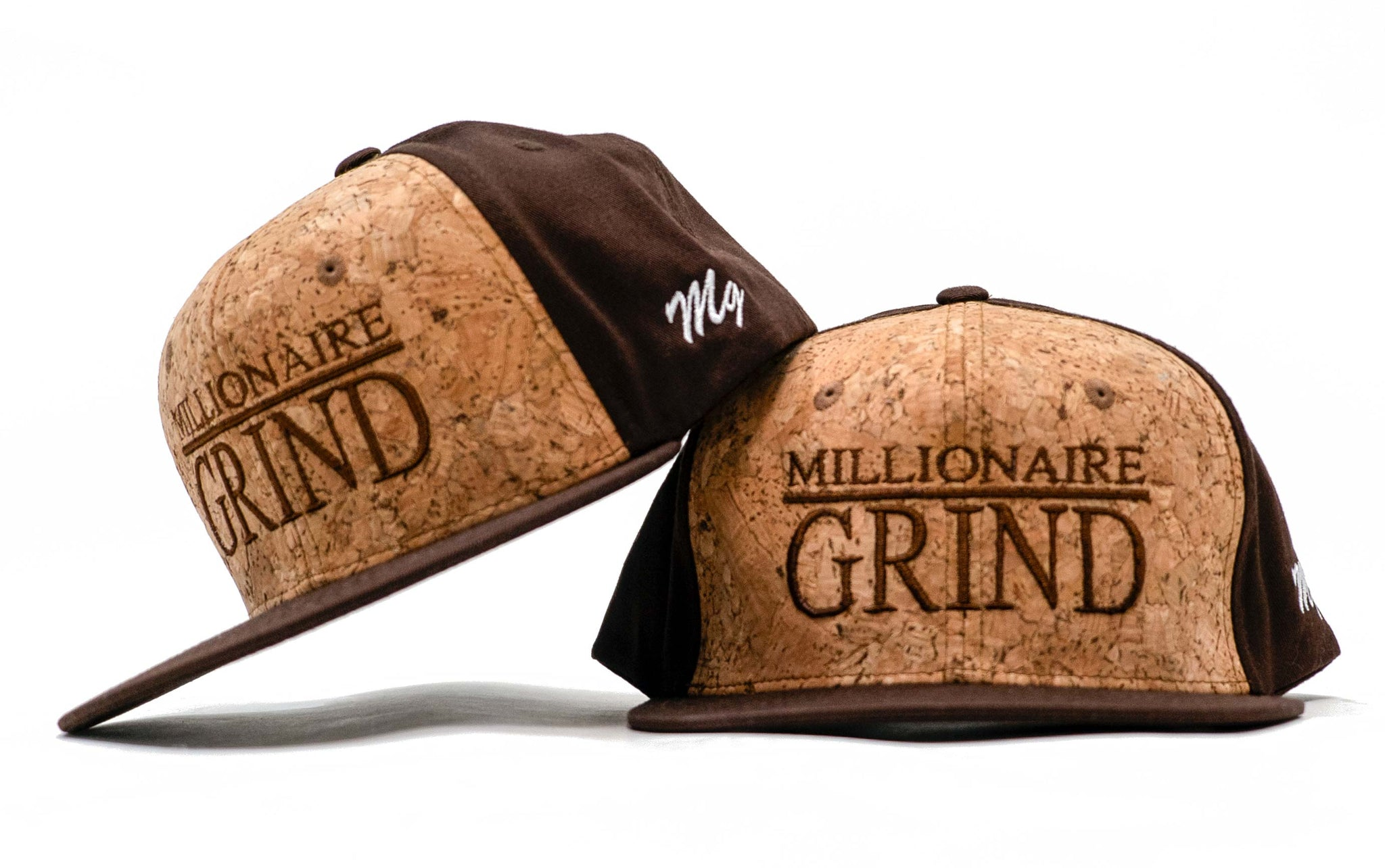 Millionaire Grind Snapback - (Brown / Cork Screw)