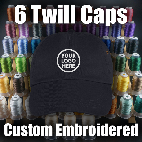 Custom Twill Cap Embroidery