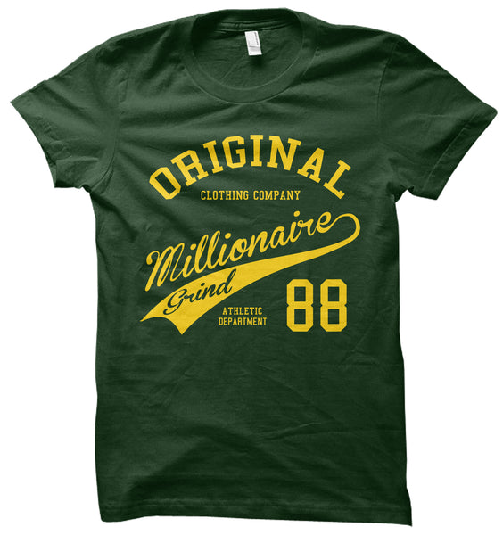 OMG Tee - (Forrest Green / Golden Yellow)