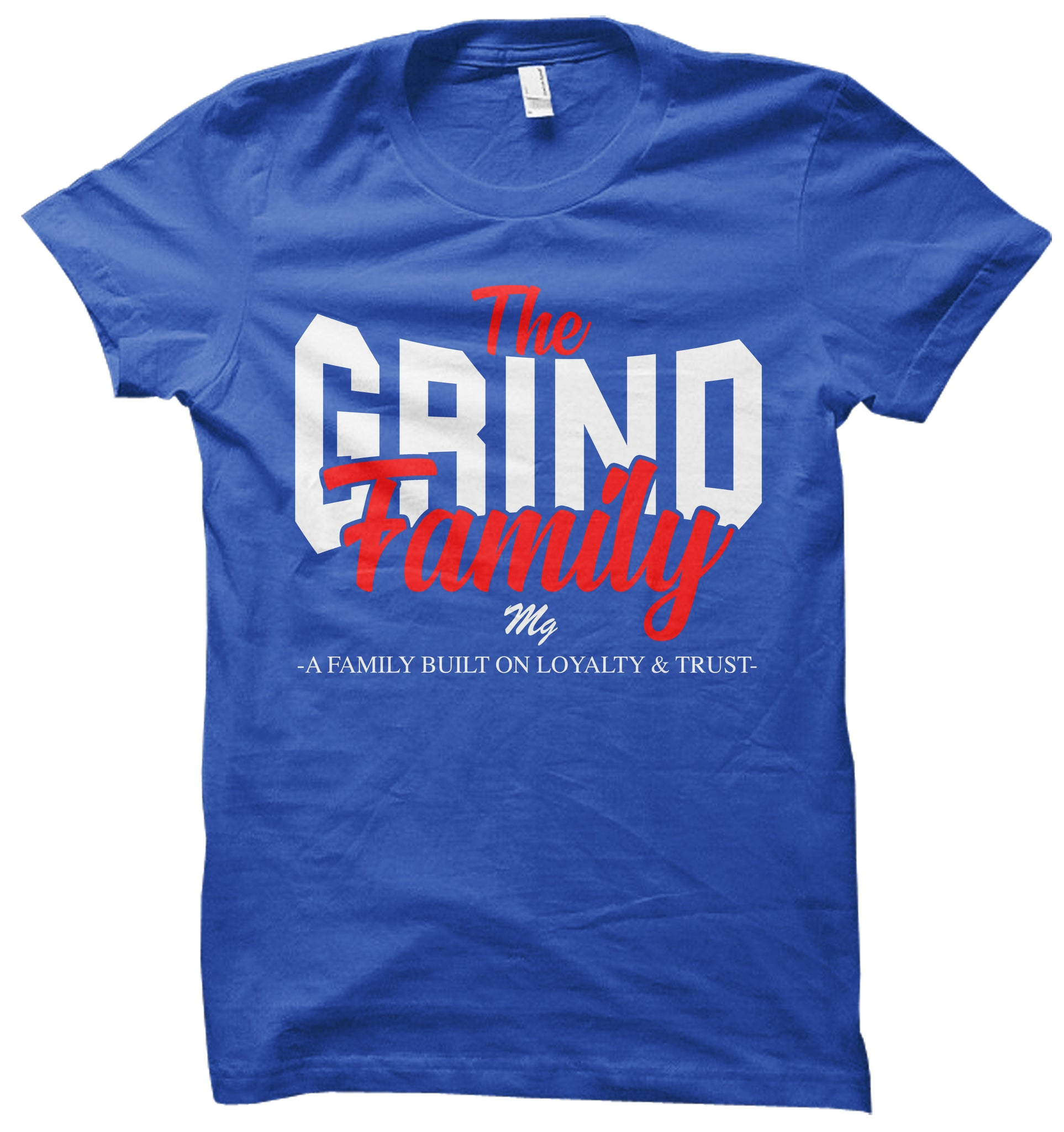 Grind Family Tee - (Royal/White/Red)