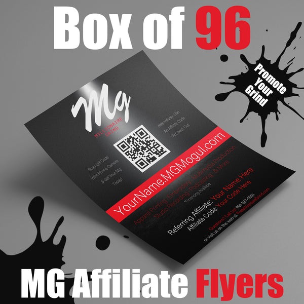 Pack of 96 Affiliate Flyers