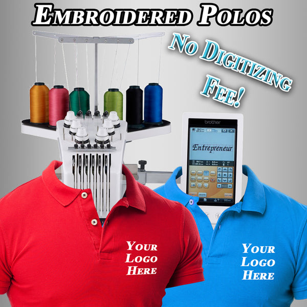 Custom Embroidered Polos With Your Logo